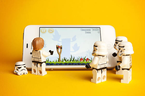 Stormtrooper Photograph - Angry Birds Storm Troopers by Samuel Whitton
