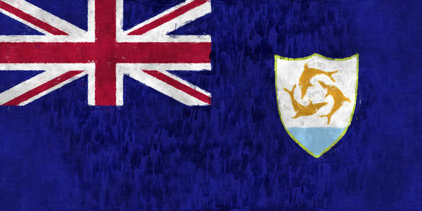 Wall Art - Digital Art - Anguilla Flag by World Art Prints And Designs