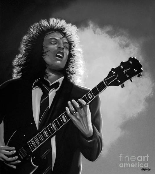 Powerage Wall Art - Mixed Media - Angus Young by Meijering Manupix