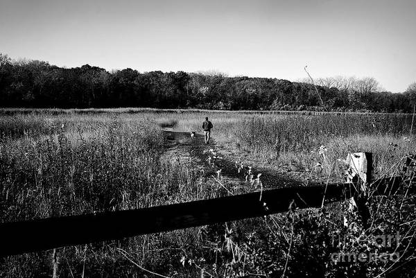 Photograph - A Man And His Dog by Frank J Casella