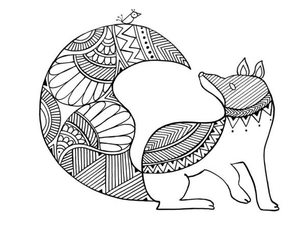 Intricate Drawing - Animal Fox 2 by MGL Meiklejohn Graphics Licensing