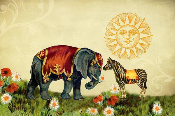 Digital Art - Animal Love by Peggy Collins