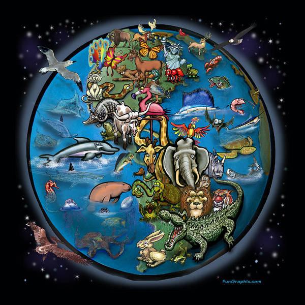 Animal Planet Art Print
