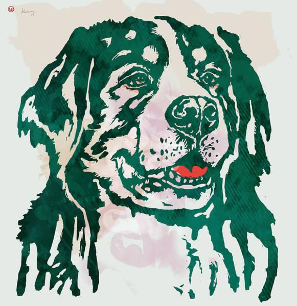 Carnivorous Drawing - Animal Pop Art Etching Poster - Dog - 1 by Kim Wang