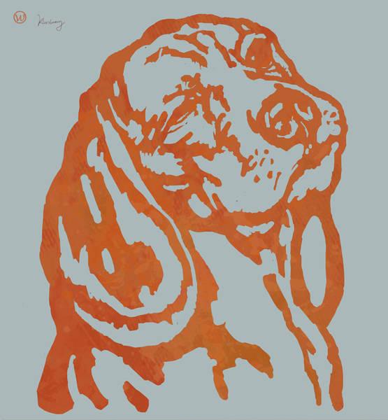 Carnivorous Drawing - Animal Pop Art Etching Poster - Dog 11 by Kim Wang
