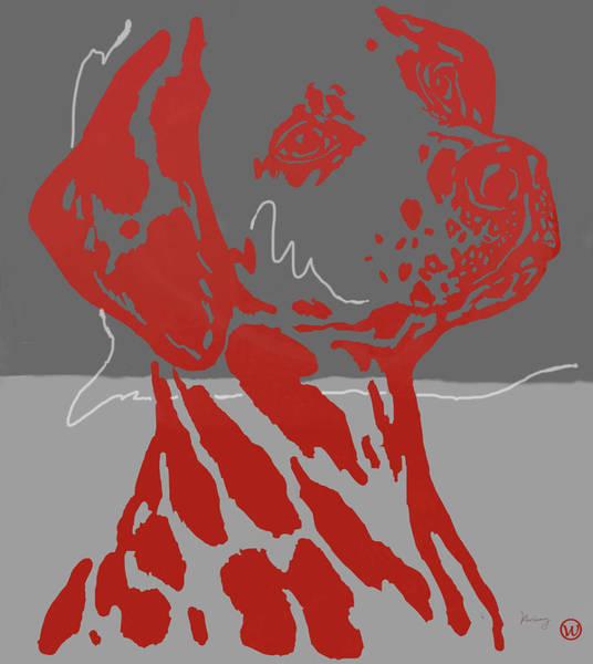 Carnivorous Drawing - Animal Pop Art Etching Poster - Dog 12 by Kim Wang