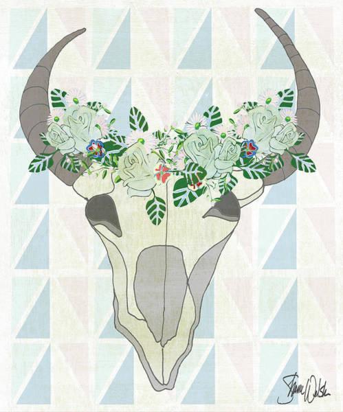 Wall Art - Painting - Animal Skull Botanical II by Shanni Welsh