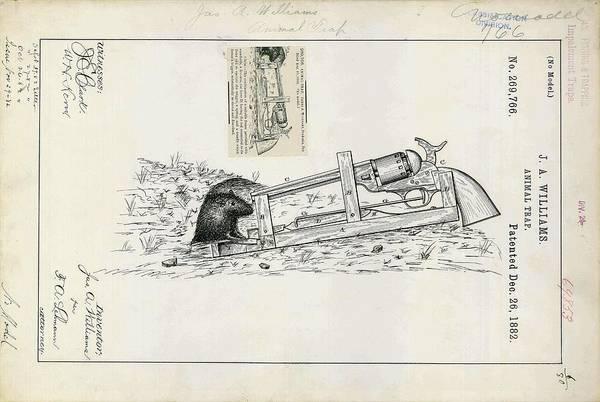 Animal Trap Patent Art Print