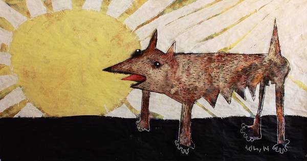 Canine Mixed Media - Animalia Canis Et Sol  by Mark M  Mellon