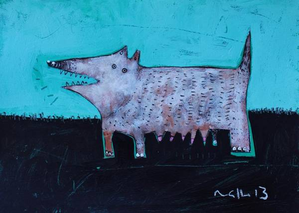 Outsider Art Painting - Animalia Canis No. 7  by Mark M  Mellon