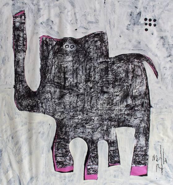 Charcoal Painting - Animalia Elephanti No. 1 by Mark M  Mellon