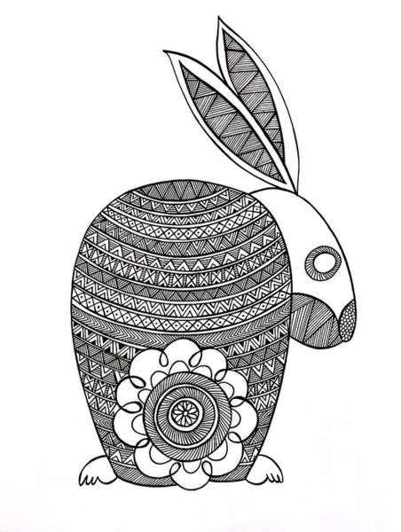 Adult Drawing - Animals Bunny by MGL Meiklejohn Graphics Licensing