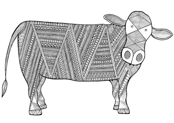 Wall Art - Drawing - Animals Cow 4 by MGL Meiklejohn Graphics Licensing
