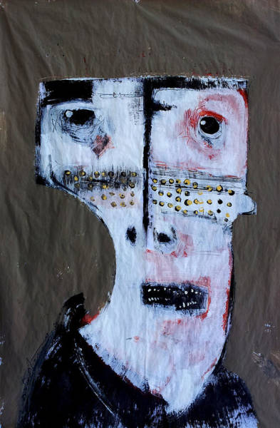 Outsider Art Painting - Animus No 1 by Mark M  Mellon
