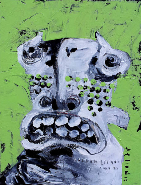 Outsider Art Painting - Animus No 10 by Mark M  Mellon
