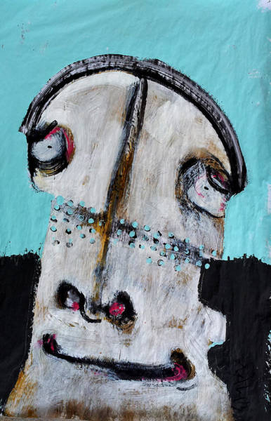 Outsider Art Painting - Animus No 11 by Mark M  Mellon
