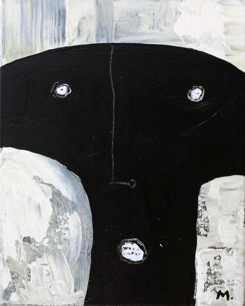Outsider Art Painting - Animus No 13 by Mark M  Mellon