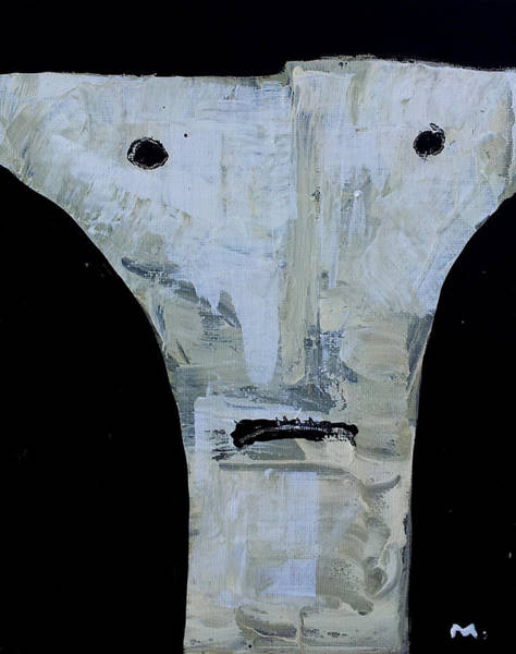Outsider Art Painting - Animus No 15 by Mark M  Mellon
