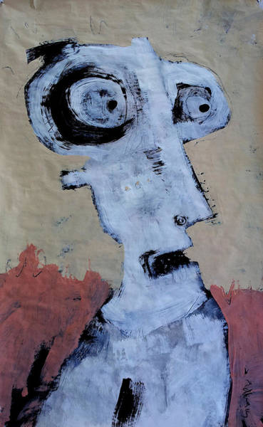 Outsider Art Painting - Animus No 2 by Mark M  Mellon