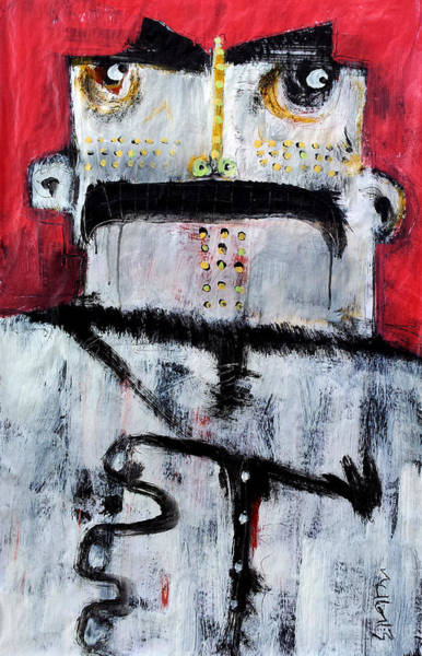 Outsider Art Painting - Animus No 3 by Mark M  Mellon