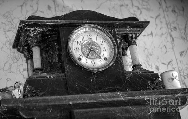 Wall Art - Photograph - Anique Clock With Cobwebs by Iris Richardson