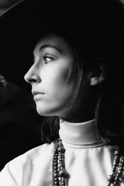 Photograph - Anjelica Huston Wearing Beads by Arnaud de Rosnay