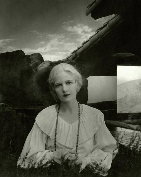 Architecture Photograph - Ann Harding Wearing A Blouse by Edward Steichen