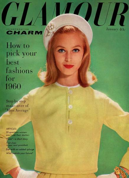 January 1st Photograph - Ann Klem On The Cover Of Glamour by Sante Forlano