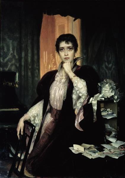 Heroine Photograph - Anna Karenina, 1904 Oil On Canvas by Heinrich Matvejevich Maniser