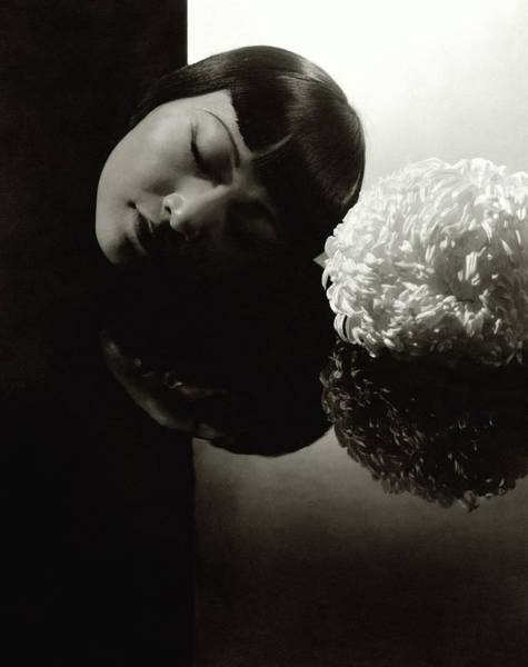 Flower Head Photograph - Anna May Wong Resting Her Head by Edward Steichen