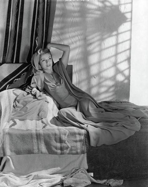 Bed Photograph - Annabella Reclining In A Crepe Dress by Horst P. Horst