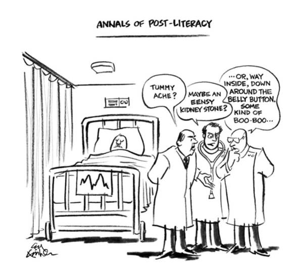 Literacy Drawing - Annals Of Post-literacy by Ed Fisher