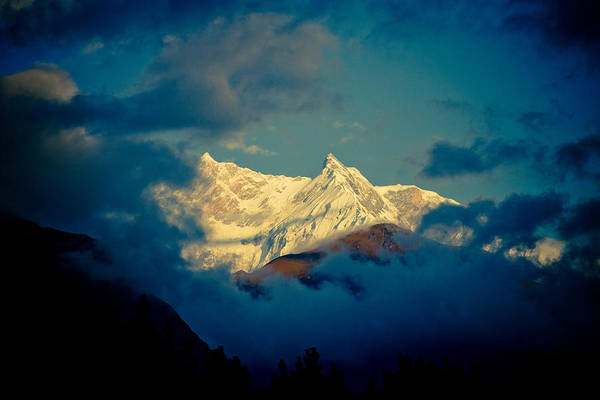 Photograph - Annapurna Holy Mountain In Himalyas by Raimond Klavins