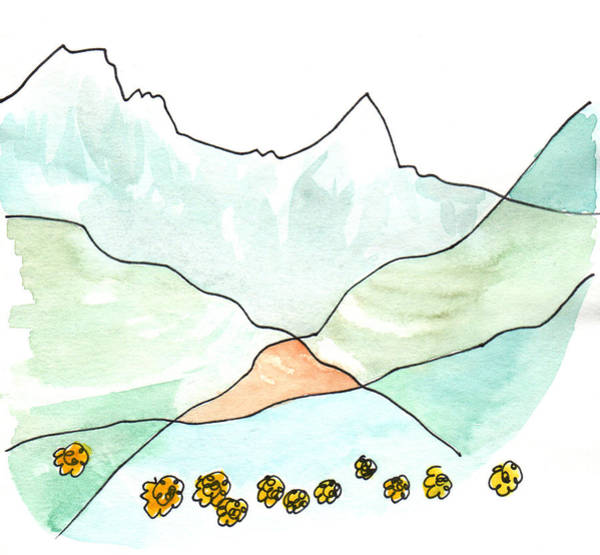 Painting - Annapurna With Marigolds by Anna Elkins