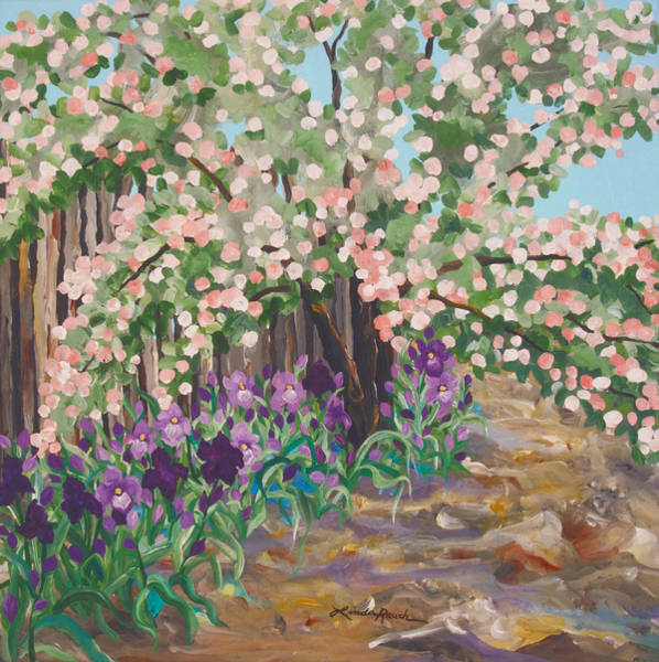 Painting - Anna's Garden by Linda Rauch