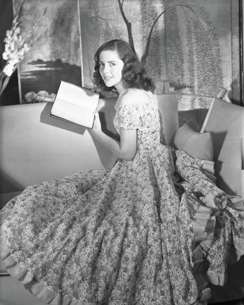 Reading Photograph - Anne Bullitt Reading A Book by Horst P. Horst
