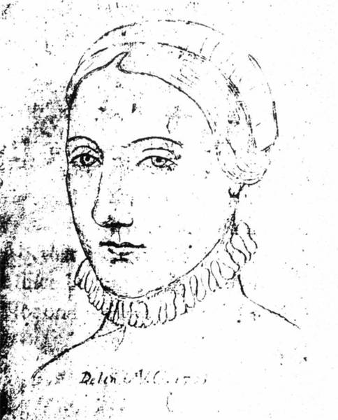 Wall Art - Drawing - Anne Hathaway (c1556-1623) by Granger