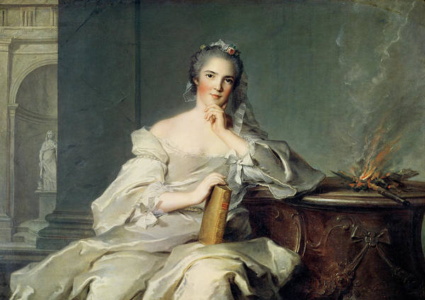 Daughter Photograph - Anne-henriette De France, As The Element Of Fire, 1750-1 Oil On Canvas by Jean-Marc Nattier