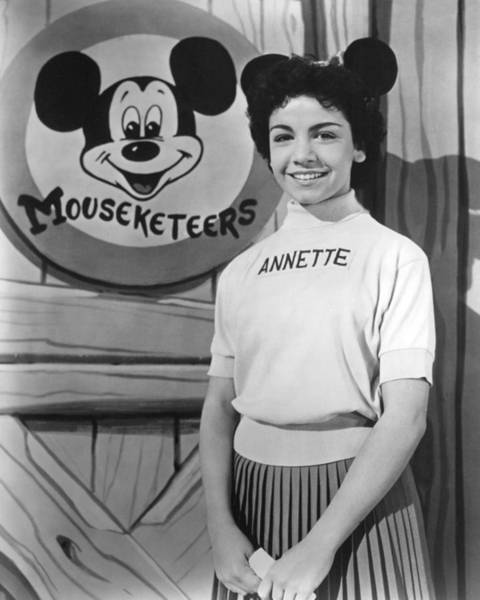 Wall Art - Photograph - Annette Funicello In The Mickey Mouse Club  by Silver Screen
