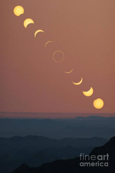 Photograph - Annular Solar Eclipse Phases by Babak Tafreshi