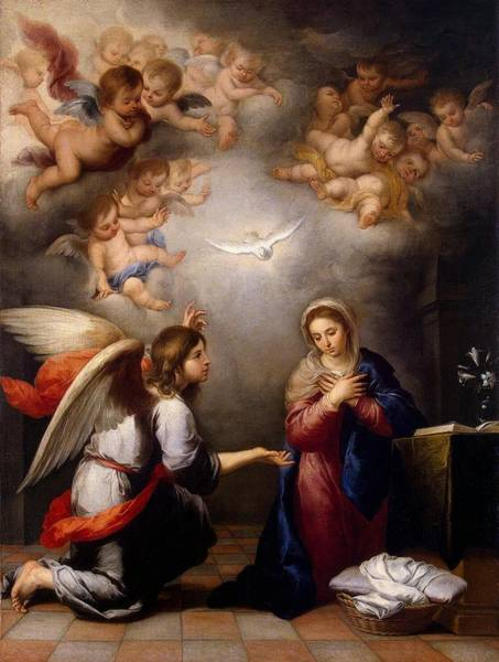 Gabriel Painting - Annunciation by Pam Neilands