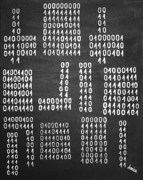 Painting - Anonymous - Binary Painting By Marianna Mills by Marianna Mills