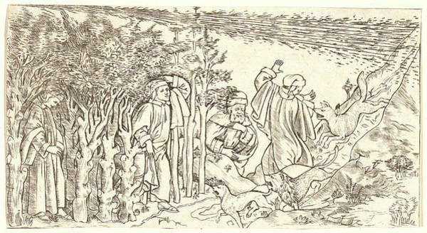 Wall Art - Drawing - Anonymous Italian. Divine Comedy Dante Lost In The Wood by Litz Collection