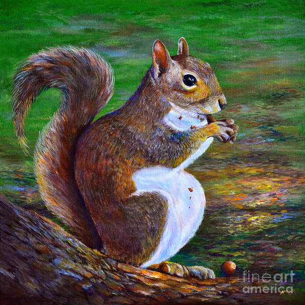 Painting - Another Acorn by AnnaJo Vahle
