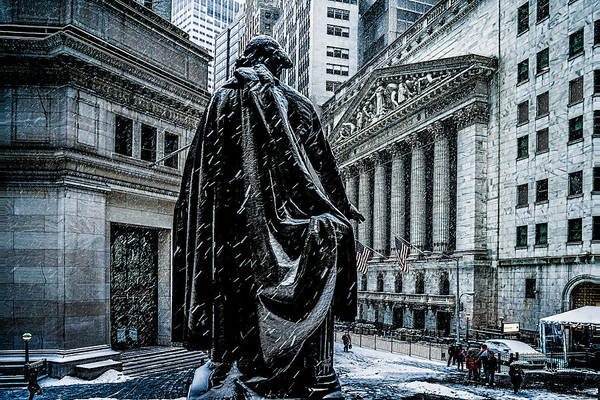 Photograph - Another Cold Cold Day On Wall Street by Chris Lord
