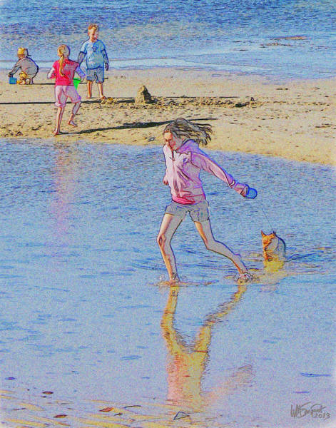 Digital Art - Another Day At The Beach by William Sargent