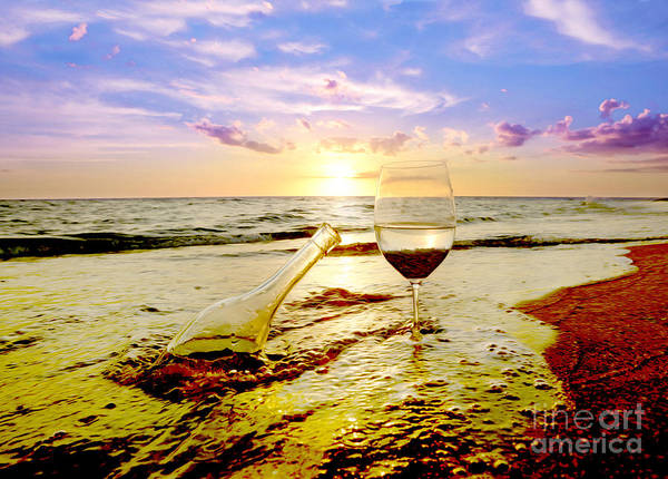 White Wine Photograph - Another Day In Paradise  by Jon Neidert