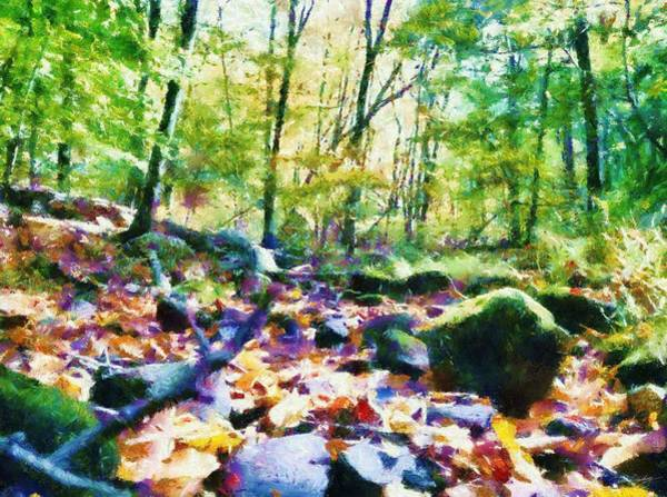 Painting - Another Enchanted Forest by Derek Gedney
