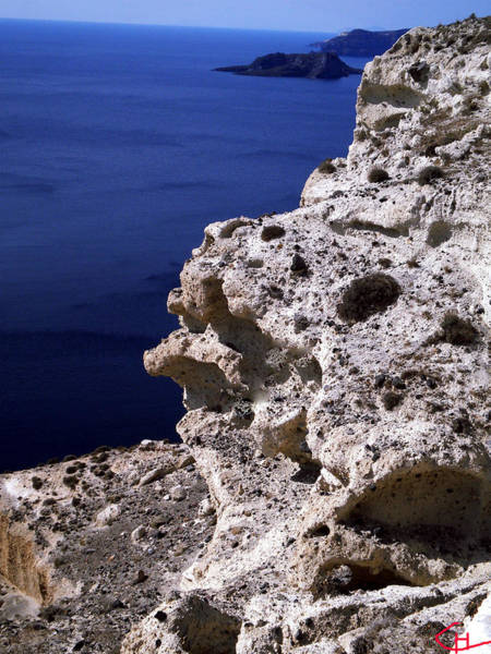 Photograph - Another Excellent Meditation Explorer Spot Santorini Island Greece  by Colette V Hera  Guggenheim