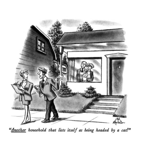 House Pet Drawing - Another Household That Lists Itself by Ed Fisher